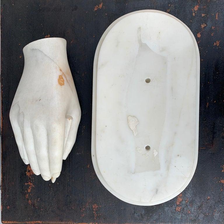 Italian Antonio Canova White Marble Hand Sculpture, Early 19th Century For Sale 4