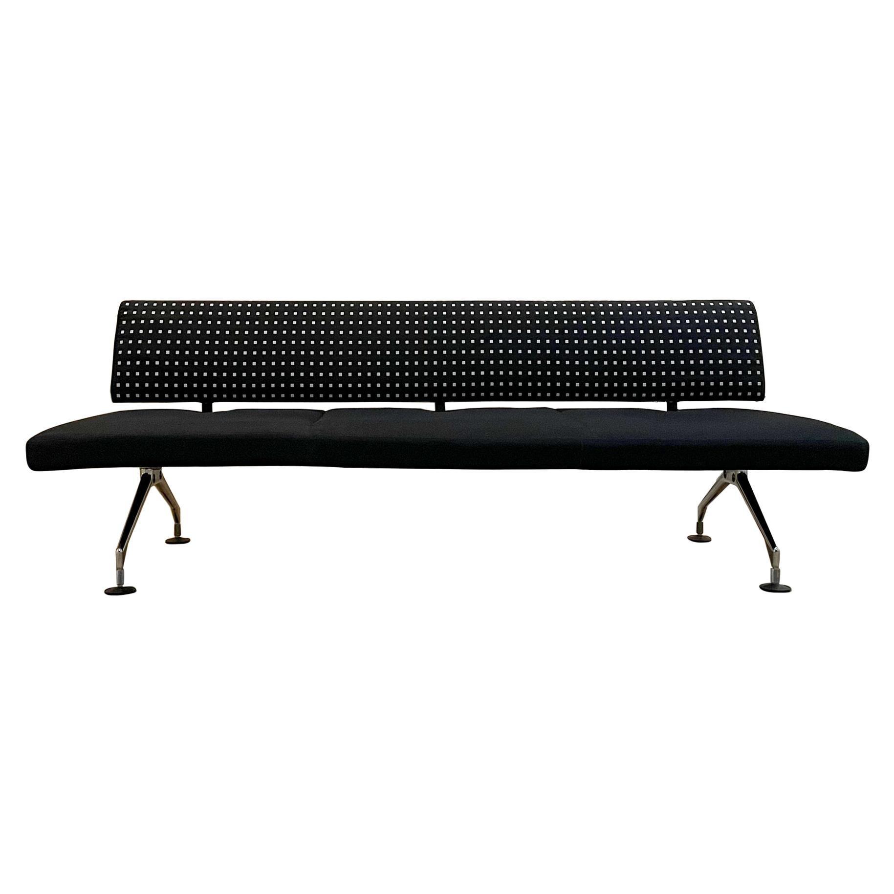 Italian Antonio Citterio for Vitra Modern 3-Seater Sofa in Cast Aluminum, 1990s