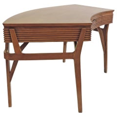 Italian Architectural 1940s Curved Desk