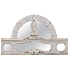 Italian Architectural Panel with Mirror Back, Great for a Small Headboard