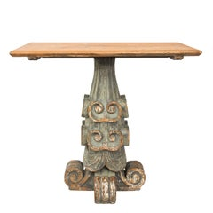 Italian Architectural Pinewood Console