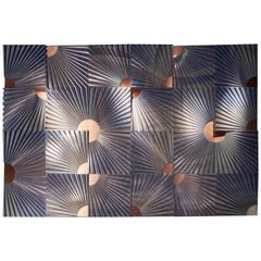 Italian Architectural Wall Feature in Copper and Azul Marble