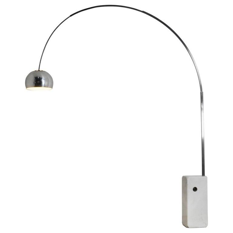 Italian Arco Floor Lamp by Achille Castiglioni & Pier Giacomo for Flos, 1960s For Sale