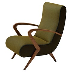 Italian Armchair in Two-Tone Polyester Fabric by Maharam