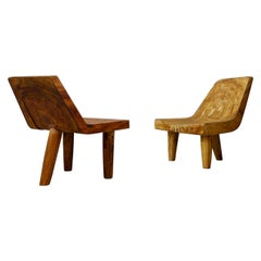 Italian Armchairs Contemporary Solid Wood, Hand Carved, 2000s