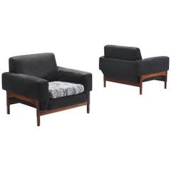 Pair of Italian Armchairs in Rosewood