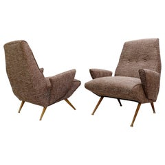 Italian Armchairs, New Upholstery