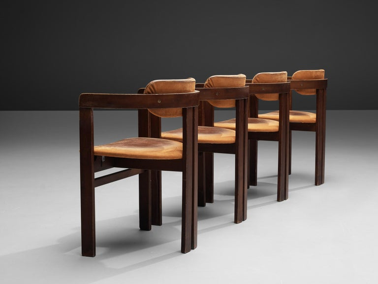 Italian Armchairs with Architectural Bentwood Frame For Sale 5