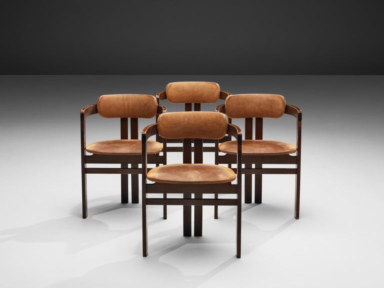 20th Century Italian Armchairs with Architectural Bentwood Frame For Sale