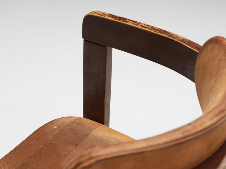 Wood Italian Armchairs with Architectural Bentwood Frame For Sale