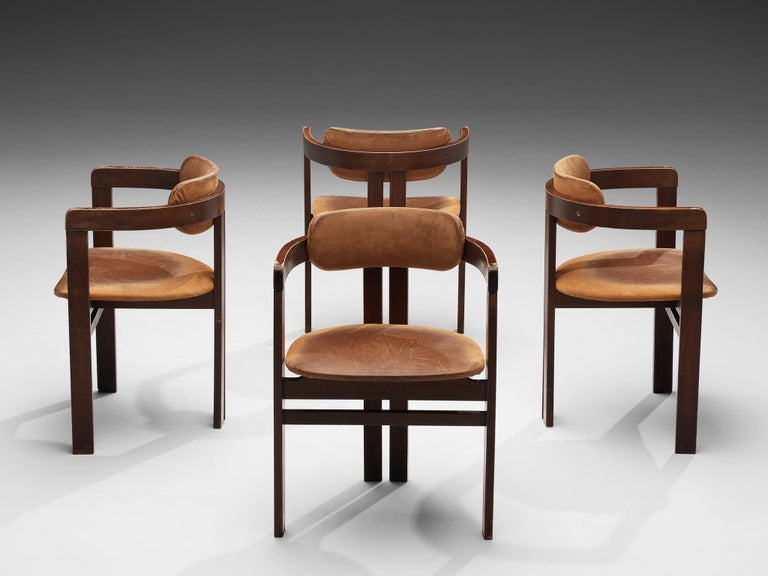 Italian Armchairs with Architectural Bentwood Frame For Sale 1