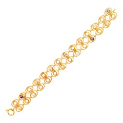 Italian Art Deco 18-Karat Yellow Gold and Pearls Bracelet