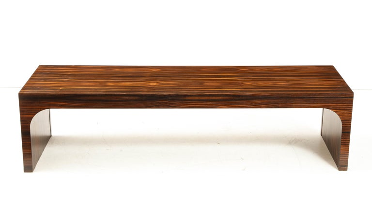 Italian Art Deco 1940s Macassar Ebony Coffee Table or Bench In Excellent Condition In New York, NY