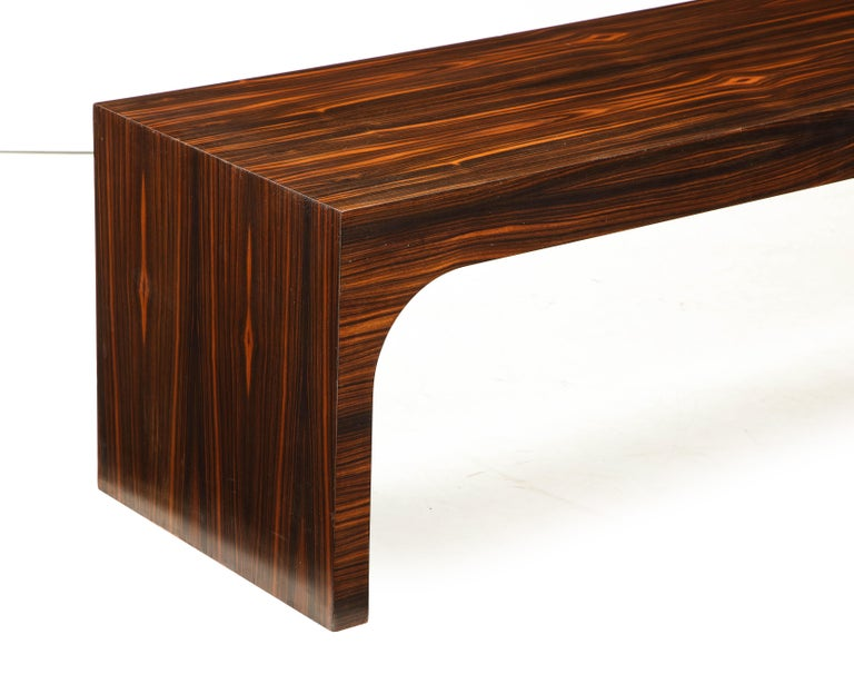 Italian Art Deco 1940s Macassar Ebony Coffee Table or Bench 1