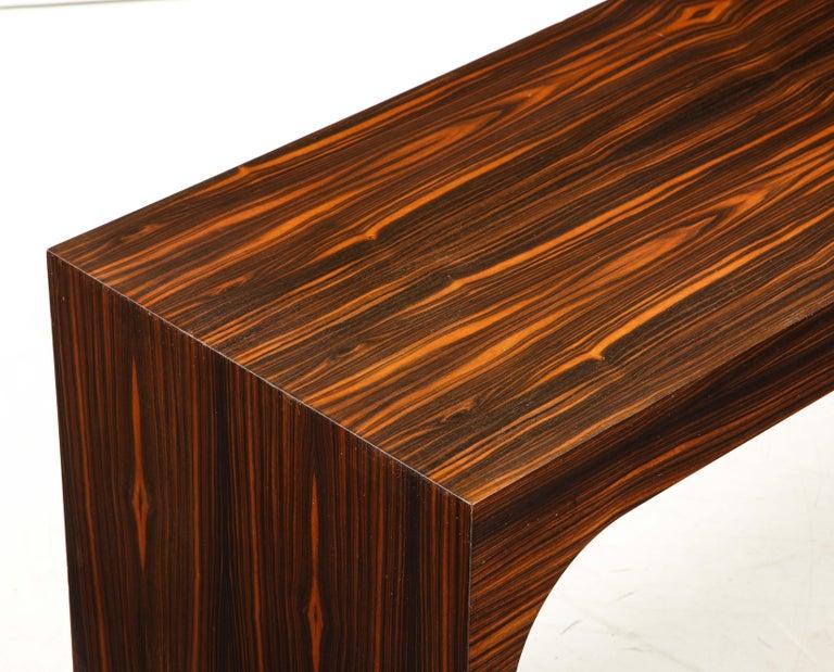 Italian Art Deco 1940s Macassar Ebony Coffee Table or Bench 2