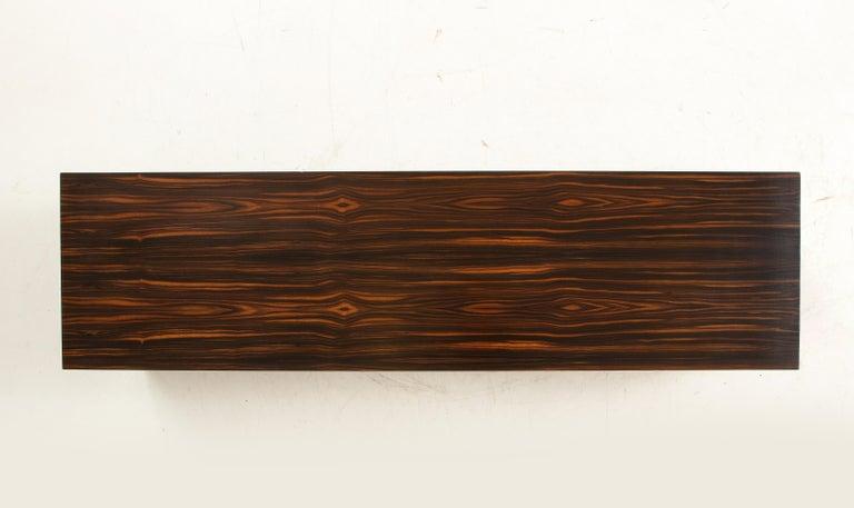 Italian Art Deco 1940s Macassar Ebony Coffee Table or Bench 4