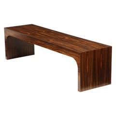 Italian Art Deco 1940s Macassar Ebony Coffee Table or Bench