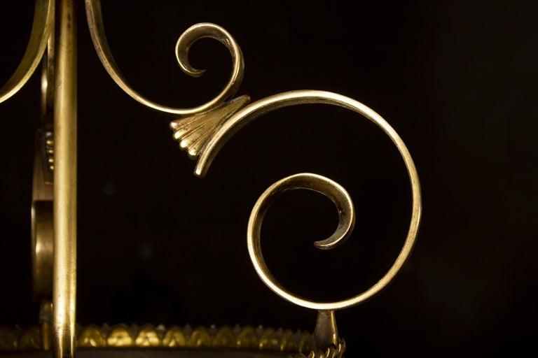 Italian Art Deco Brass Lantern or Pendant, 1940s For Sale 5