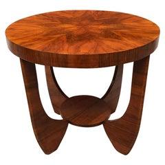 Italian Art Deco Briar Coffee Table, 1940s