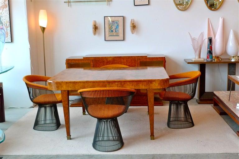 Italian Art Deco Burl Walnut Bar Cabinet Sideboard For Sale 13