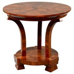Italian Art Deco Burled Walnut Center Table