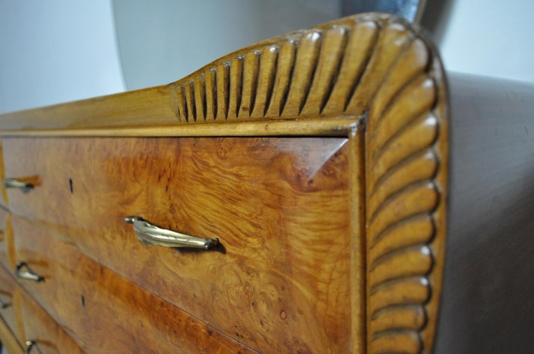 Italian Art Deco Chest of Drawers, 1930s For Sale 5