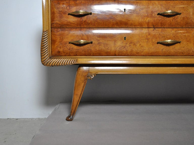 Italian Art Deco Chest of Drawers, 1930s For Sale 3