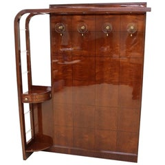 Italian Art Deco Coat Rack in the Style of Paolo Buffa in Rosewood and Maple