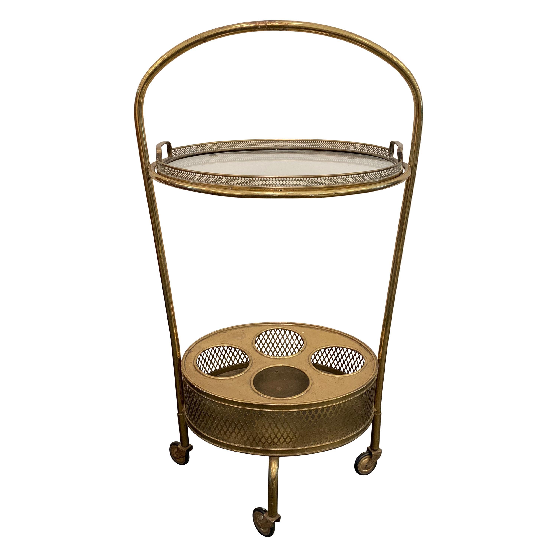 Italian Art Deco Drinks Caddy/ Bar Cart