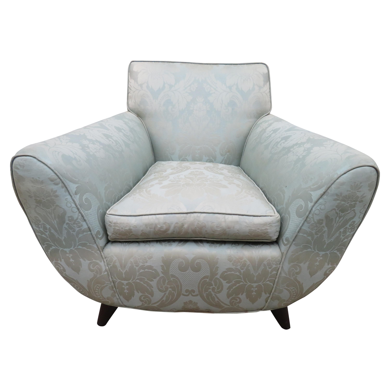 Italian Art Deco Lounge Armchair Attributed to Guglielmo Ulrich, circa 1940s