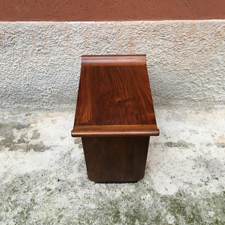 Italian Art Deco Mahogany Wood Tray Tables or Stools, 1930s 6