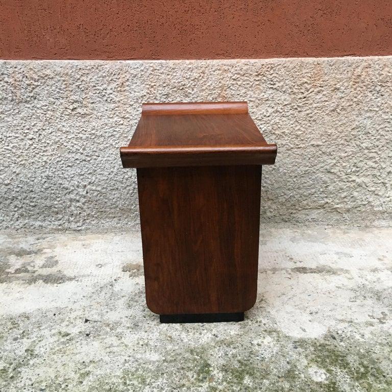 Italian Art Deco Mahogany Wood Tray Tables or Stools, 1930s 7