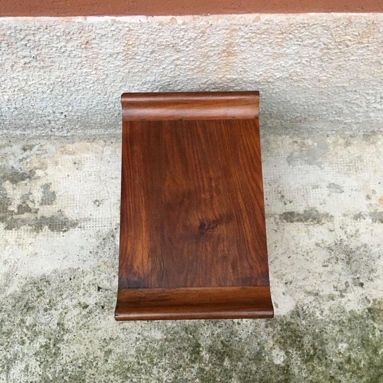 Italian Art Deco Mahogany Wood Tray Tables or Stools, 1930s 8