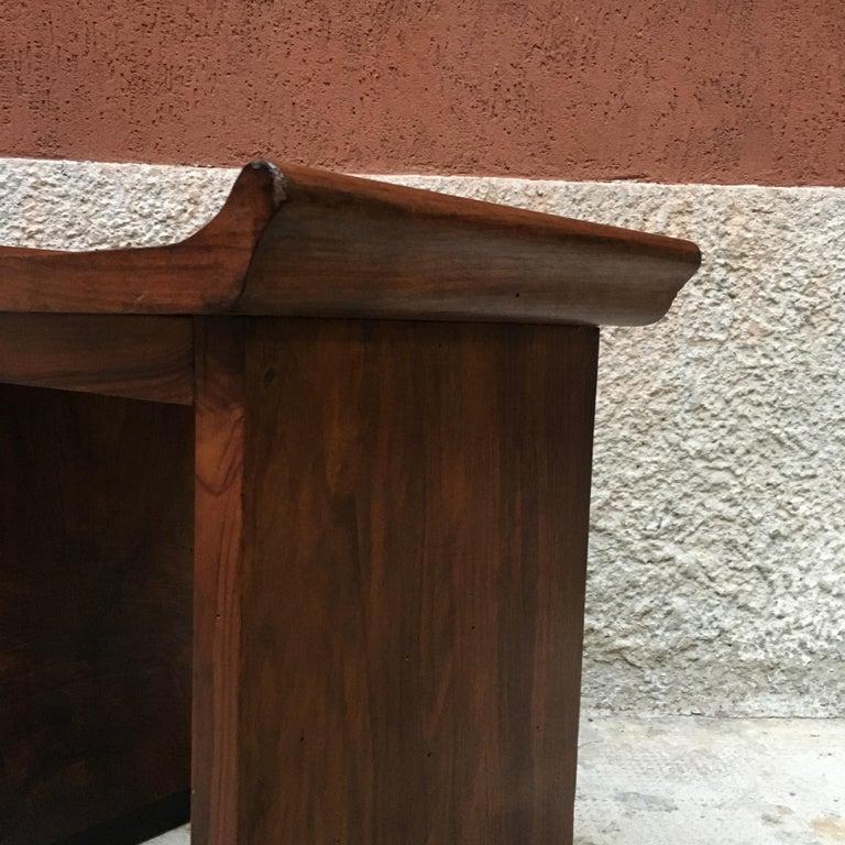 Italian Art Deco Mahogany Wood Tray Tables or Stools, 1930s 11