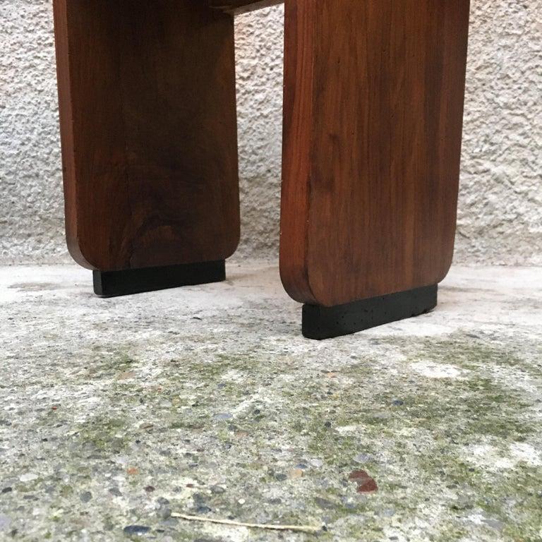 Italian Art Deco Mahogany Wood Tray Tables or Stools, 1930s 12