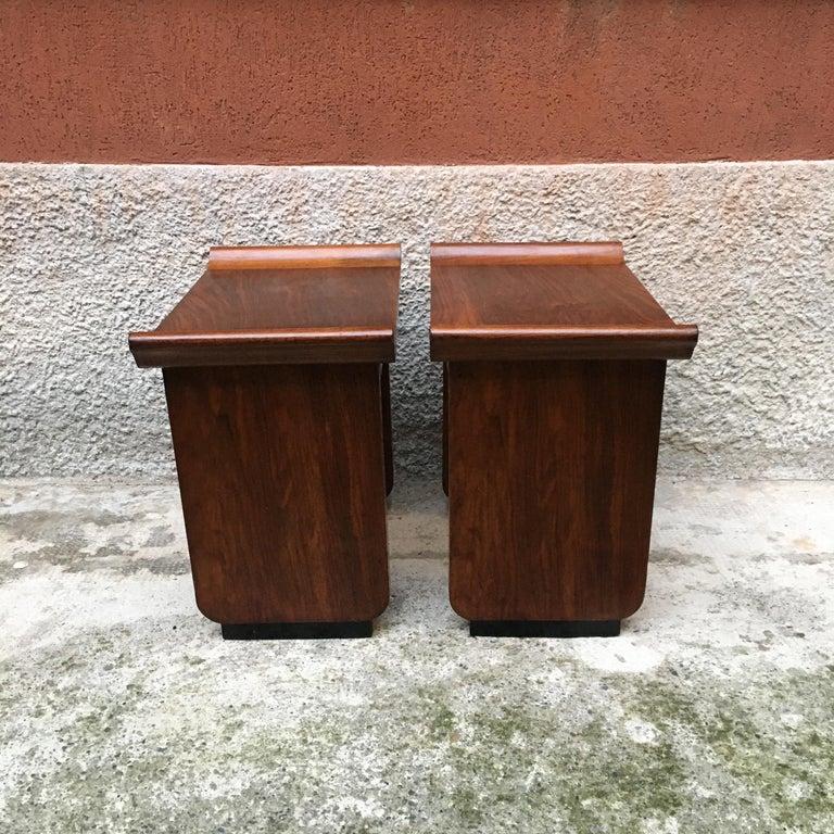 Italian Art Deco Mahogany Wood Tray Tables or Stools, 1930s 3