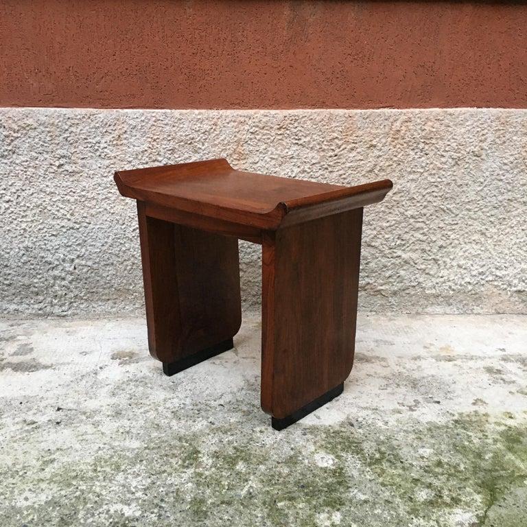 Italian Art Deco Mahogany Wood Tray Tables or Stools, 1930s 4
