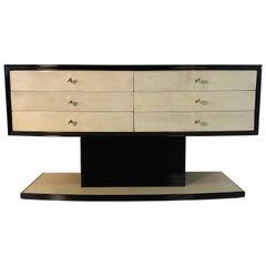 Italian Art Deco Parchment Dresser, 1940s