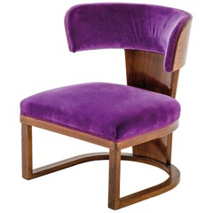 Italian Art Deco Rare Armchair by Ernesto Lapadula from 1930s