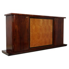 Italian Art Deco Sideboard in Rosewood and Bird's-Eye Maple