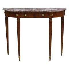 Italian Art Deco Style Console Table