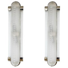 Italian Art Deco Style Pair of Sconces in Murano Glass