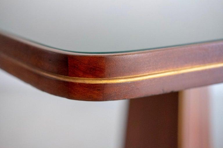 Mahogany Italian Art Deco Table For Sale