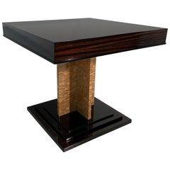 Italian Art Deco Table in Macassar and Birch Briar