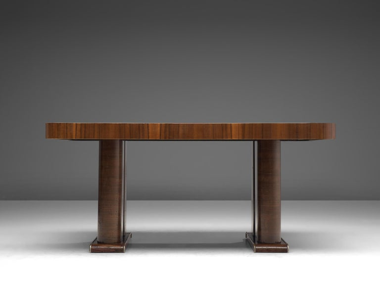 Mid-20th Century Italian Art Deco Table in Walnut, 1930s For Sale