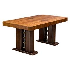 Italian Art Deco Table in Walnut, 1930s