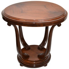 Italian Art Deco Walnut Wood Coffee Table, Center Table, 1950