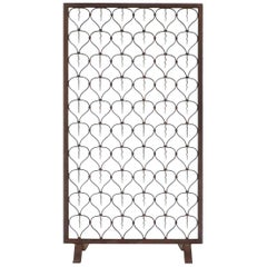 Italian Art Deco Wrought Iron Fire Screen, 1920s