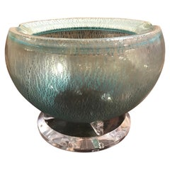 Italian Art Glass Bowl on Lucite Base