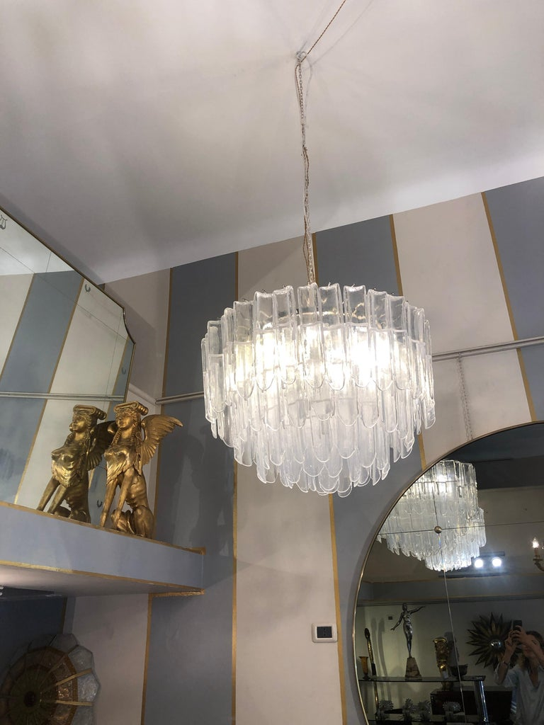 Italian Art Glass Chandeliers Pair of Attributed to Mazzega, circa 1970 For Sale 8